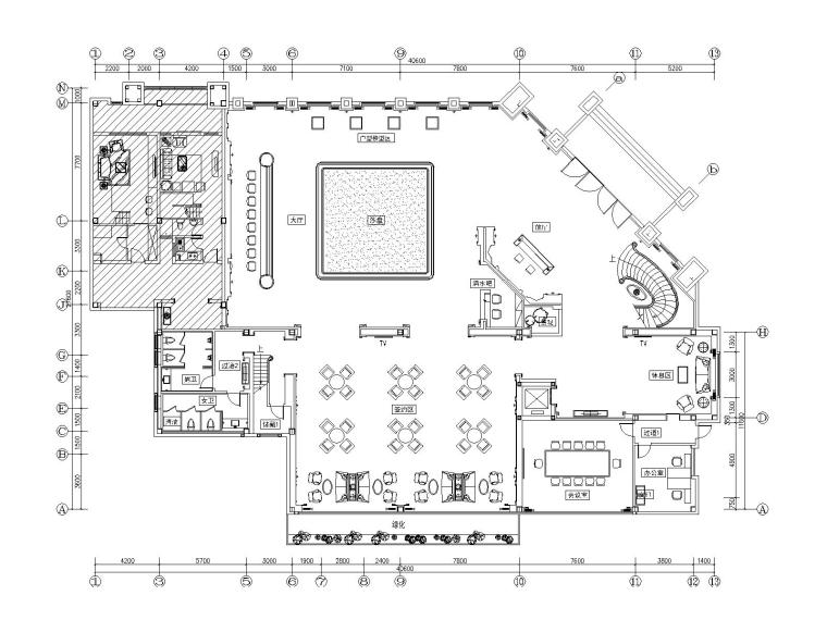 [苏州]金螳螂设计——华成香缇华府欧式售楼处施工图·附效果图