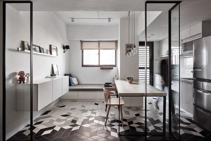 就是这么的简洁明快的室内设计