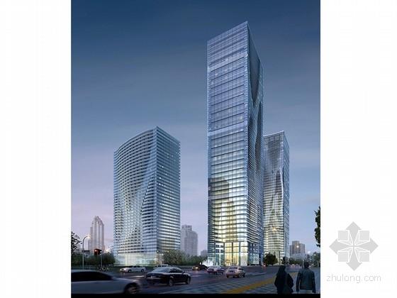 [南京]超高层玻璃幕墙办公写字楼建筑设计方案文本