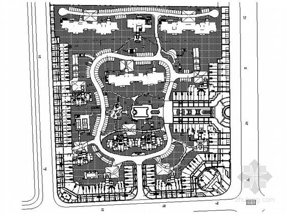 [安徽]高档学区房景观规划设计施工图