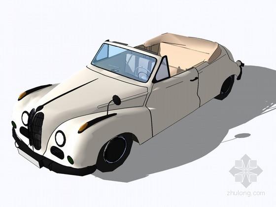 敞篷车SketchUp模型下载