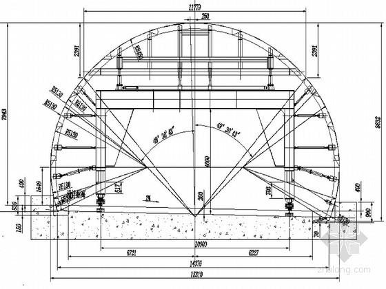高速公路三车道隧道二衬模板台车设计图