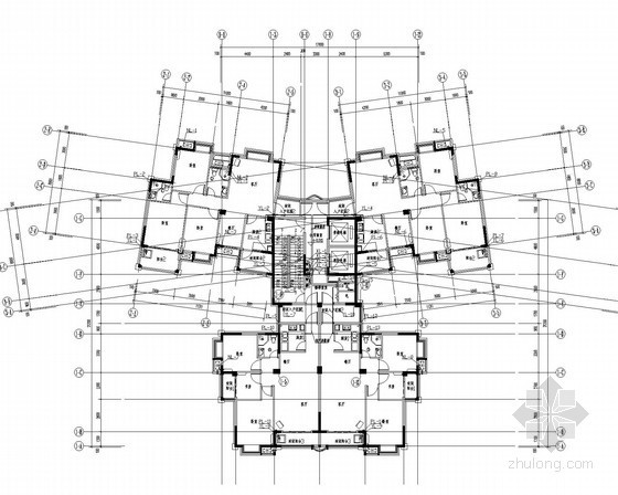 [福建]一类高层住宅楼给排水消防施工图(冷凝水系统)