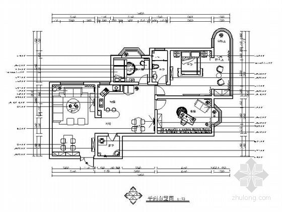 [北京]某现代风格三室两厅样板房精装修施工图(含效果)