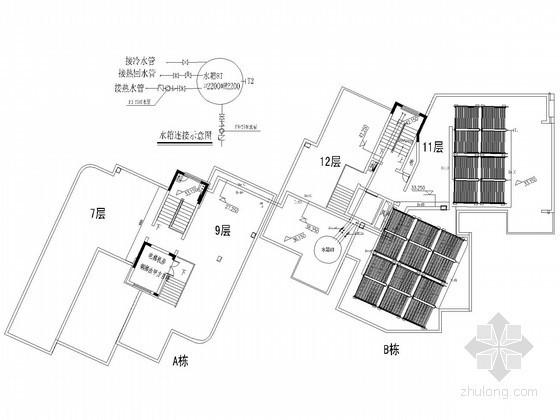 [海南]4栋高档住宅小区太阳能热水系统工程设计施工图
