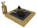 休闲茶桌3D模型下载