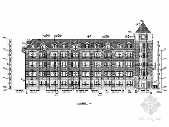 [河北]五层(局部六层)框剪结构教学楼建筑结构施工图