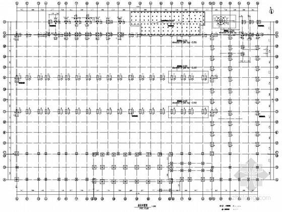 [湖南]单层钢框架结构厂房及各种子项建筑结构施工图(中英文对照)