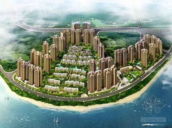 [湖南]滨水大型居住区规划及单体建筑设计方案文本