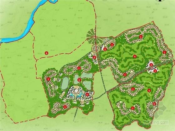 [成都]欧式风情融合现代国际田园景观的生态园概念性总体规划方案