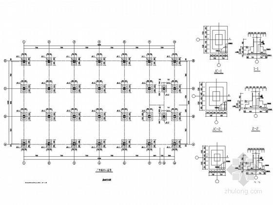 二层厂房建筑结构图资料下载-二层钢框架结构磨粉制品厂房结构图(含整体技术书、楼承板计算书)