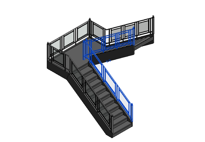 BIM族库-建筑-场地建模族-栏杆(rfa,共123个)