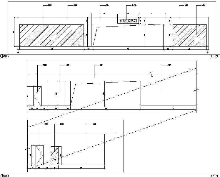 4套迪卡侬设计施工图(附效果图+设计手册)-立面图
