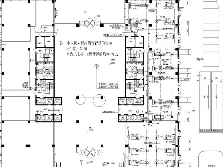 [山东]济南日立鲁邦国际广场通风空调图纸(含送排风系统图防排烟系统图)