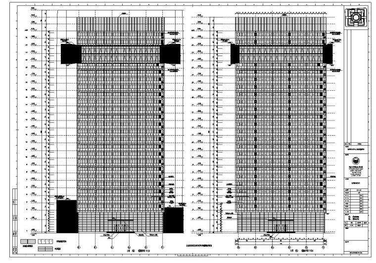 [浙江]某市市民中心楼房建筑施工图cad(56个文件夹)_4