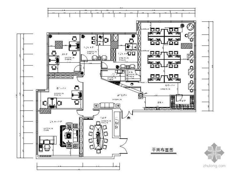 [北京]财经中心某传媒公司办公室施工图