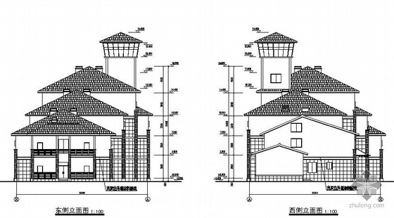 某4层砌体结合框架结构高档宾馆全套建筑及结构图