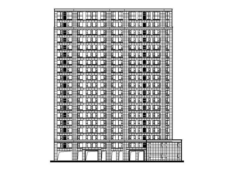 高层建筑结构形式:钢筋混凝土结构,混合结构钢筋混凝土结构:框架图纸