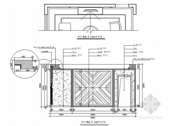 [内蒙古]轻奢欧式三居室室内样板间施工图(含实景照片)-轻奢欧式三居室室内样板间施工图(含实景照片)立面图