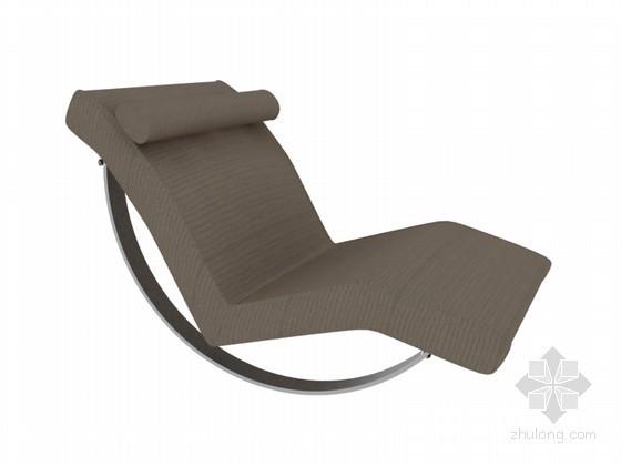 休闲躺椅3D模型下载