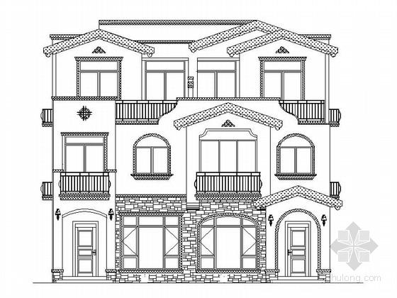 [广西]3层现代风格板式住宅建筑施工图