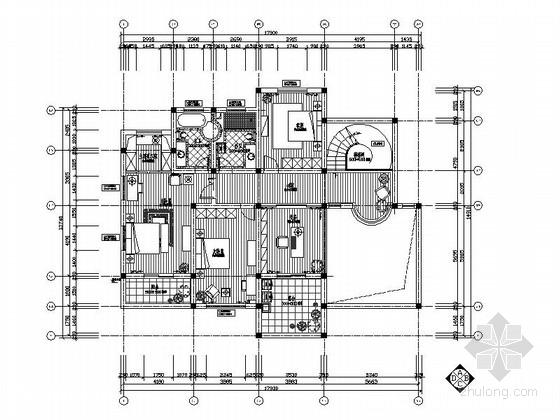 [上海]欧式温馨精装修2层别墅室内设计施工图