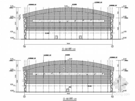 [四川]空间管桁架结构体育馆结构施工图(含建筑方案图)