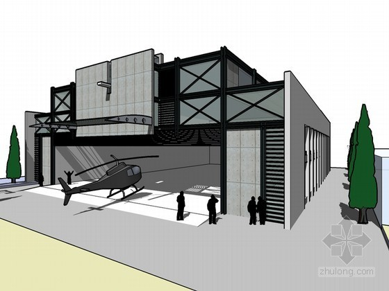 艺术厂房SketchUp模型下载