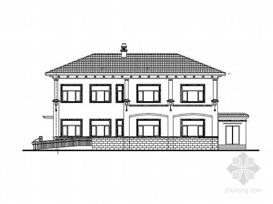 [海南]多层框剪结构沿江独栋与双拼式别墅建筑施工图