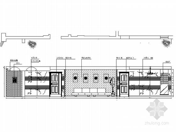 [无锡]滨湖知名地产现代五居室装修图(含效果)客厅立面图