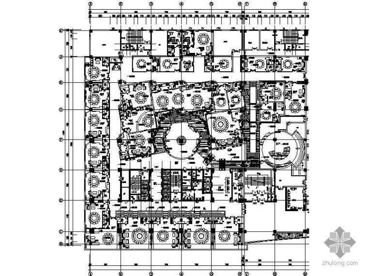 酒店餐厅平面图