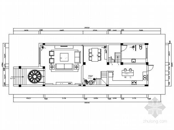 [江苏]扬州现代质朴三层别墅装修CAD施工图(含效果图)