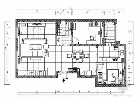 [原创]128平简欧风格两层四室两厅双卫室内施工图(含高清效果图)