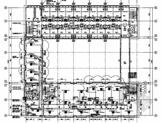 [上海]商业办公大厦空调通风及防排烟系统设计施工图(采暖设计)