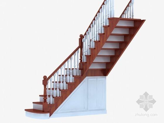 精美室内楼梯3D模型下载