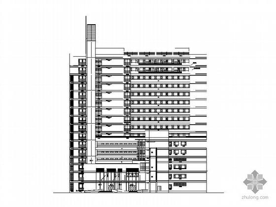 [上海]某医院十五层住院楼建筑施工图