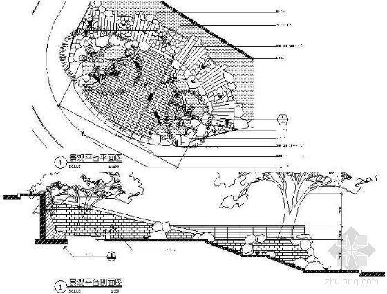入口景观平台详图