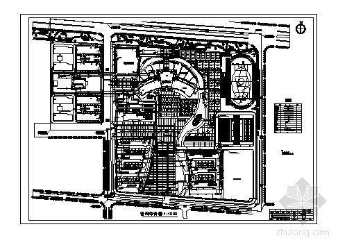 漯河中学新建校区施工图漯河中学新建校区工程总平面建筑图