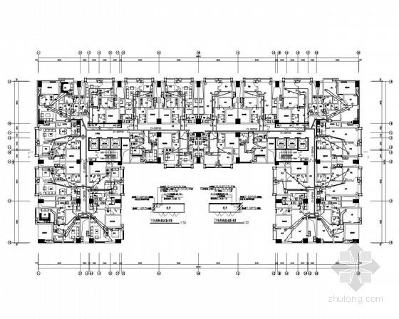 [四川]大型商业综合体强弱电电施图99张