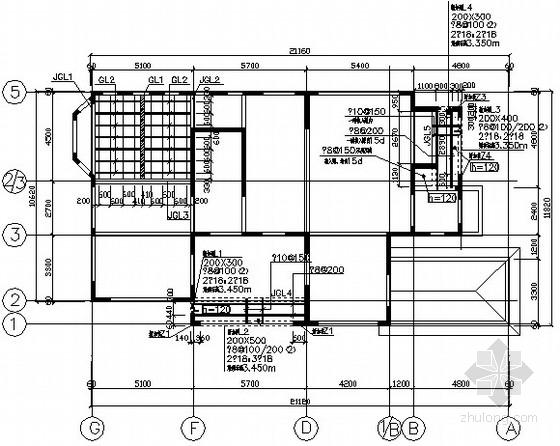 别墅钢结构加层改造施工图
