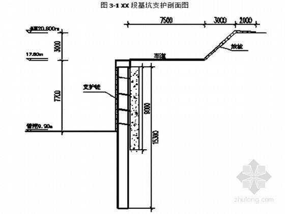 城市广场深基坑支护结构设计(毕业设计)