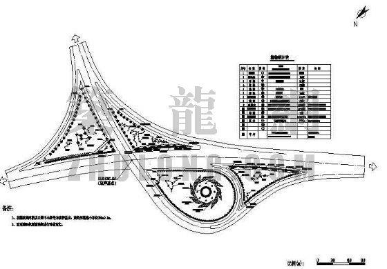 高速公路互通绿化施工放线图
