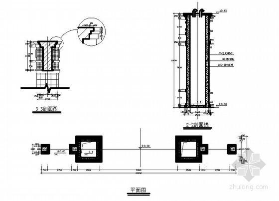 某市场门楼结构设计图