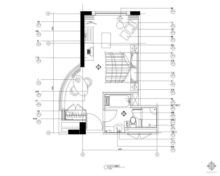 标准客房平面图Ⅰ
