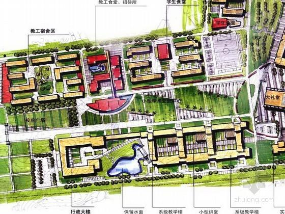 [考研手绘快题]某高校小区规划图