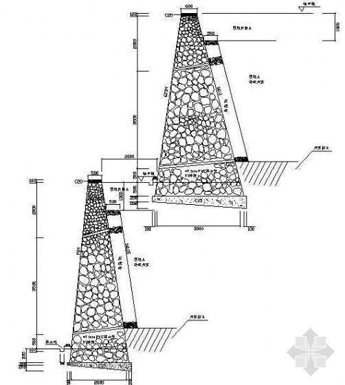 挡墙断面设计图(1)
