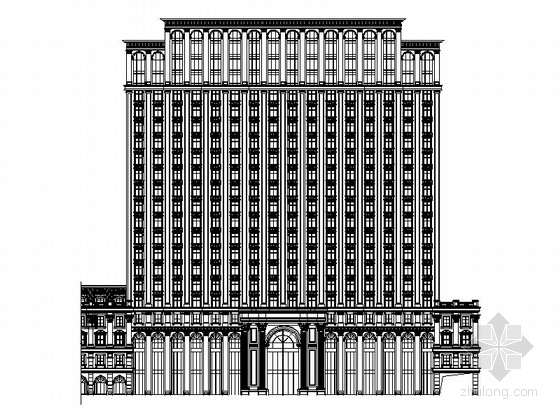 贴瓦屋面高层单公寓建筑施工图