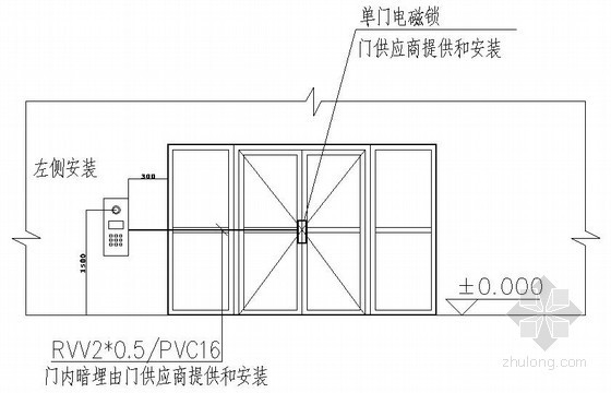 弱电工程可视对讲系统设备安装大样图纸