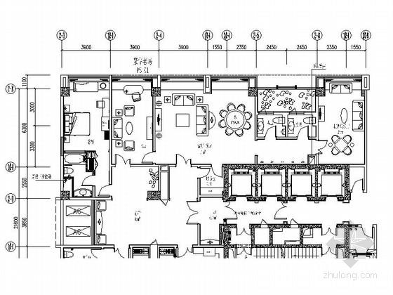 [成都]国际产权式商务酒店奢华套房装修施工图(含效果)