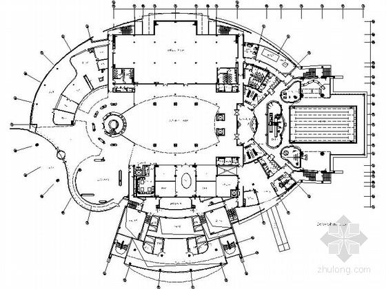 [苏州]工业园区标志性建筑之一青少年活动中心室内装修施工图(含方案)